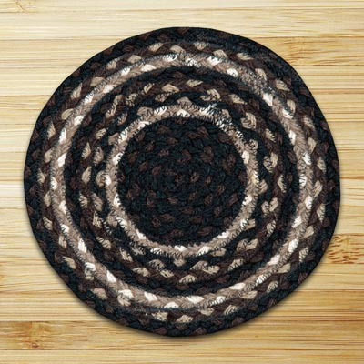 Mocha and Frappuccino Braided Tablemat - Round