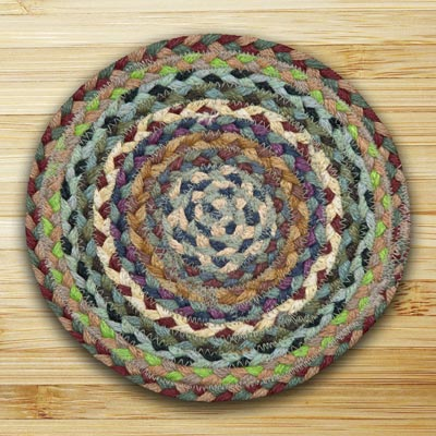 Blue, Violet, and Cream Braided Tablemat - Round