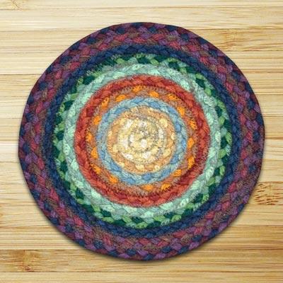 Rainbow 1 Braided Tablemat - Round