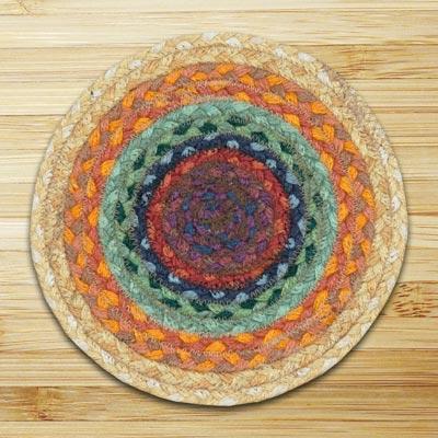 Rainbow 2 Braided Tablemat - Round