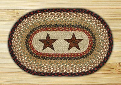 Barn Stars Braided Placemat