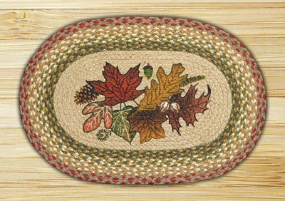 Autumn Leaves Oval Braided Placemat