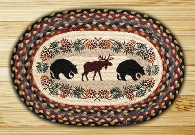Bear and Moose Braided Placemat