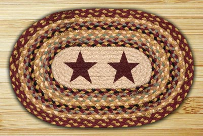 Burgundy Stars Braided Placemat