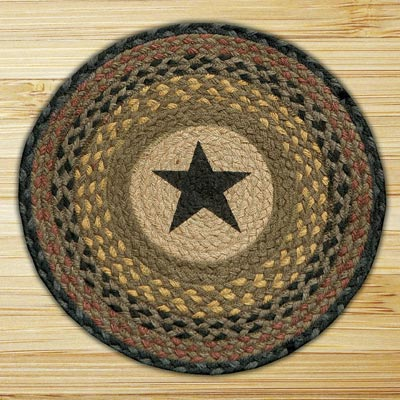 Black Star Printed Chair Pad