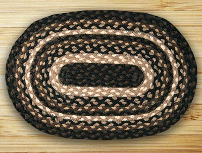 Mocha and Frappuccino Braided Jute Placemat