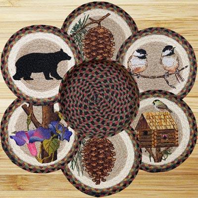 Cabin Bear Braided Trivet Set