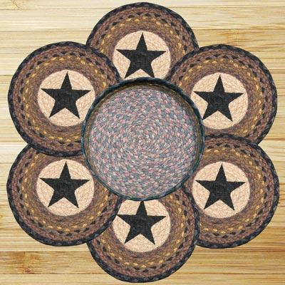 Black Star Braided Trivet Set