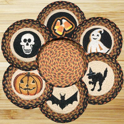 Halloween Braided Trivet Set