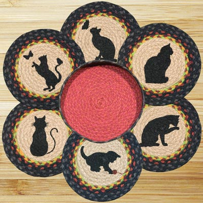 Cats Braided Trivet Set