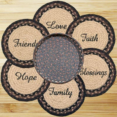 Blessings Braided Trivet Set