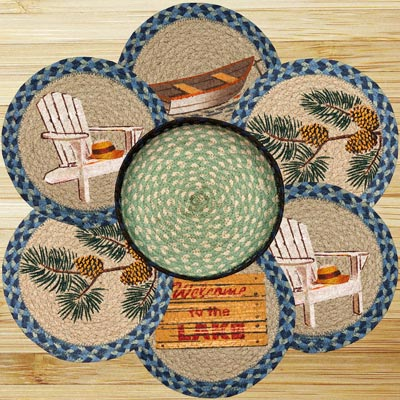 Welcome To The Lake Braided Trivet Set
