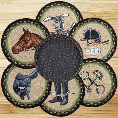 Equestrian Braided Trivet Set