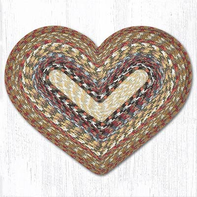 Honey, Vanilla, and Ginger Cotton Braid Placemat - Heart