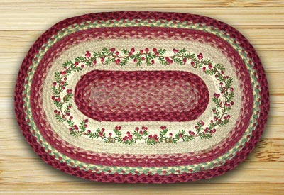 Cranberries Oval Patch Braided Rug
