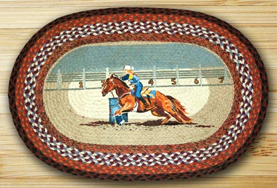 Seconds To Finish Oval Patch Braided Rug