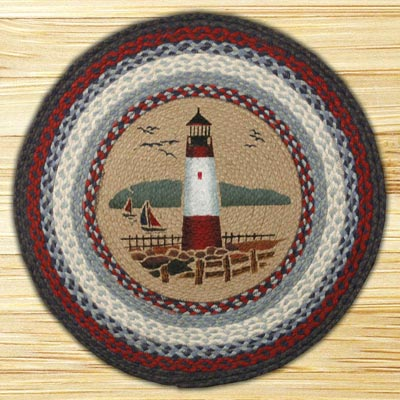 Lighthouse Round Braided Rug