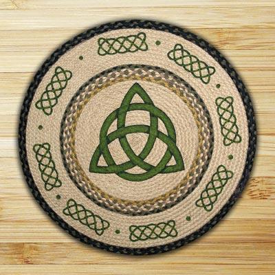 Irish Knot Round Braided Rug