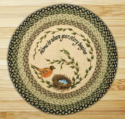 Robins Nest Round Braided Rug