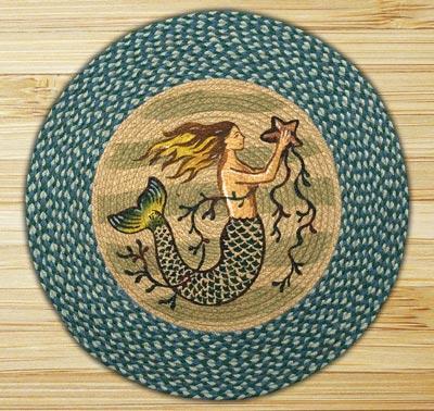 Mermaid Round Braided Rug