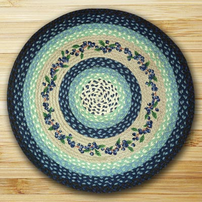 Blueberry Vine Round Braided Rug