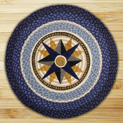 Compass Round Braided Rug