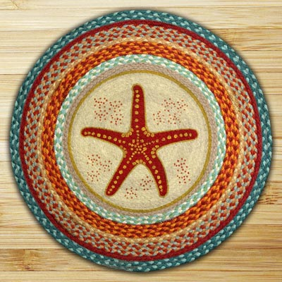 Star Fish Round Braided Rug