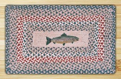 Fish Rectangle Braided Jute Rug