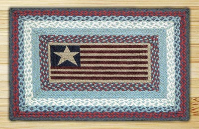 Flag Rectangle Braided Jute Rug