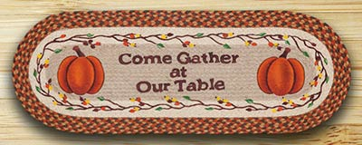 Come Gather Pumpkin Table Runner - 36 inch