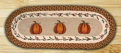 Harvest Pumpkin Braided Jute Table Runner - 36 inch