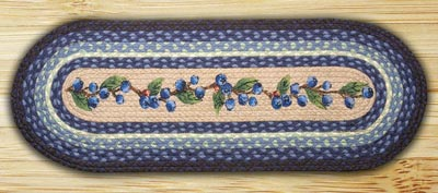 Blueberry Vine Braided Jute Tablerunner - 36 inch