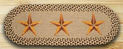 Golden Barn Star Braided Table Runner - 36 inch