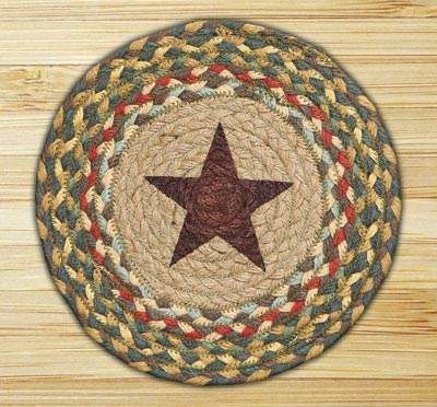 Gold Star Braided Jute Tablemat - Round (10 inch)