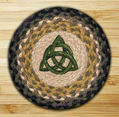 Irish Knot Braided Jute Tablemat - Round (10 inch)