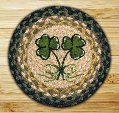 Shamrock Braided Jute Tablemat - Round (10 inch)