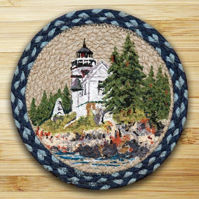 Bass Harbor Braided Jute Tablemat - Round (10 inch)