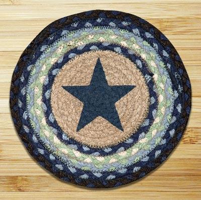 Blue Star Braided Jute Tablemat - Round (10 inch)