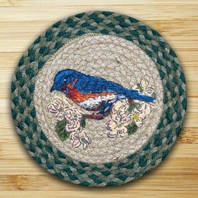 Blue Bird Braided Jute Tablemat - Round (10 inch)