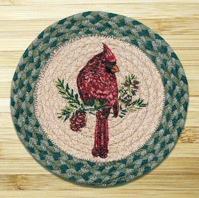 Cardinal Braided Jute Tablemat - Round (10 inch)