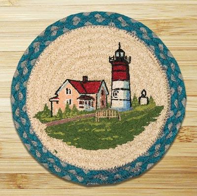 Portland Braided Jute Tablemat - Round (10 inch)