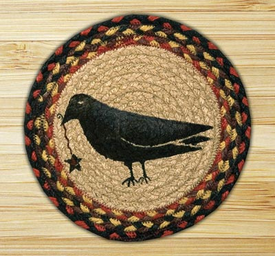 Crow & Star Braided Jute Tablemat - Round (10 inch)