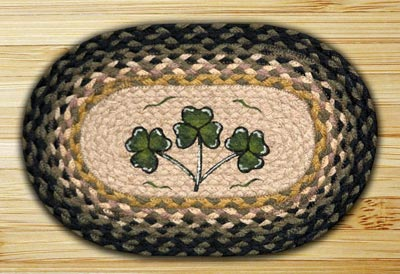 Shamrock Braided Jute Tablemat - Oval