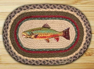 Trout Braided Jute Tablemat - Oval