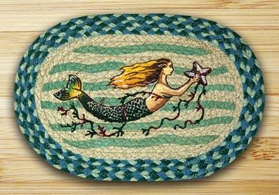 Mermaid Braided Jute Tablemat - Oval