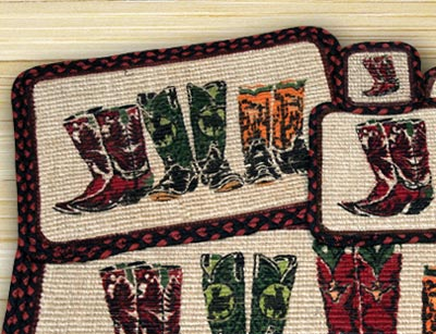 Boots Wicker Weave Placemat