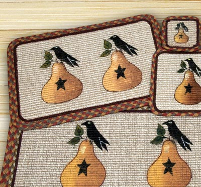 Pear & Crow Wicker Weave Coaster