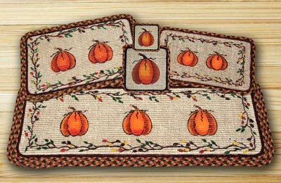 Harvest Pumpkin Wicker Weave Tablerunner (36 inch)
