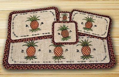 Pineapple Wicker Weave Tablemat