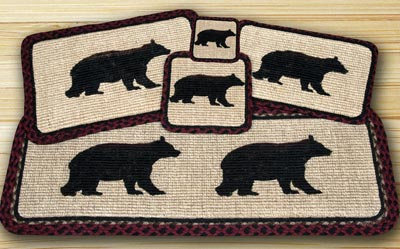 Cabin Bear Wicker Weave Tablemat